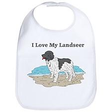 I Love My Landseer Bib