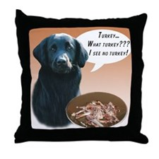 Flat-Coat Turkey Throw Pillow