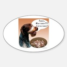 Wirehaired Turkey Oval Decal
