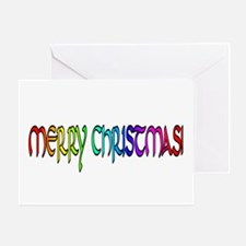 RAINBOW LETTERED MERRY XMAS Greeting Card