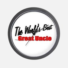 """The World's Best Great Uncle"" Wall Clock"