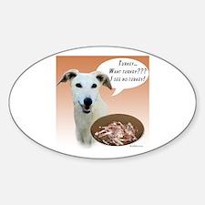 Greyhound Turkey Oval Decal