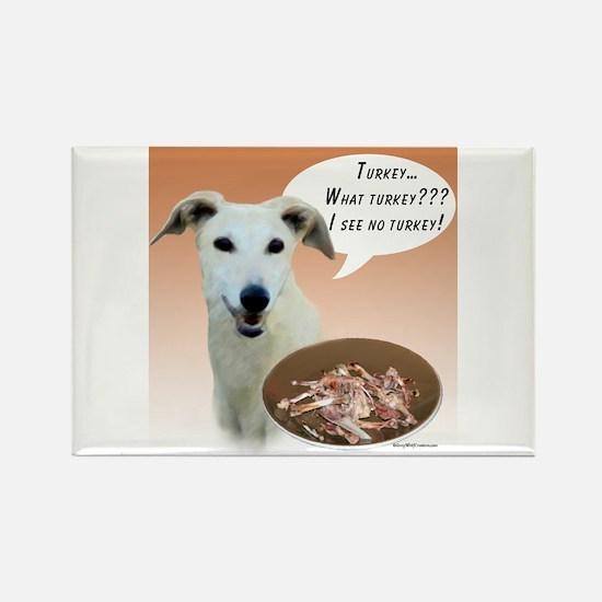 Greyhound Turkey Rectangle Magnet