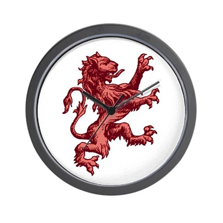 Renaissance Lion (red) Wall Clock