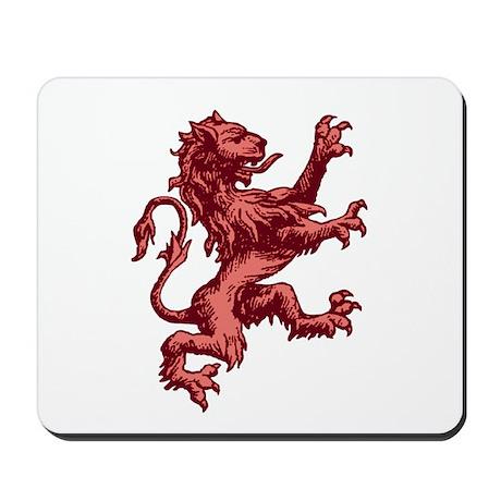 Renaissance Lion (red) Mousepad
