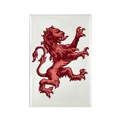Renaissance Lion (red) Rectangle Magnet (100 pack)
