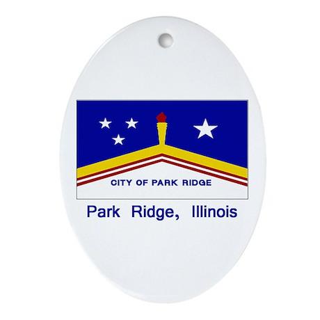Park Ridge IL Flag Oval Ornament