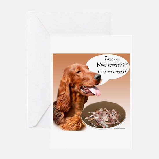 Irish Setter Turkey Greeting Card