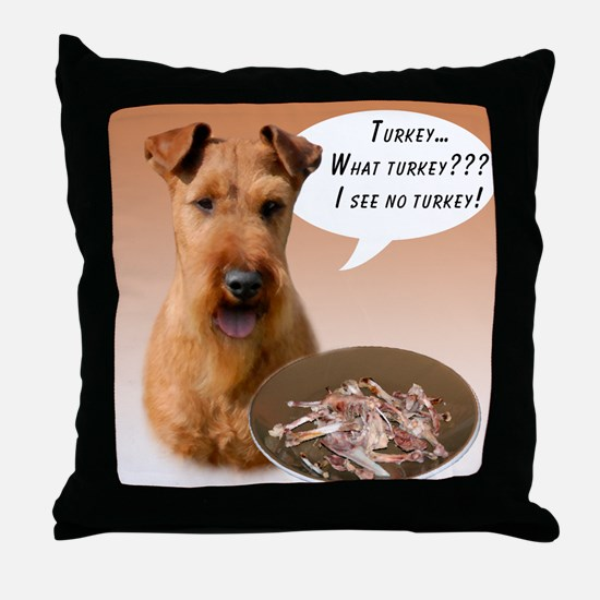 Irish Terrier Turkey Throw Pillow