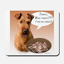 Irish Terrier Turkey Mousepad