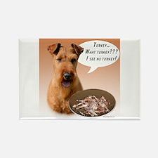 Irish Terrier Turkey Rectangle Magnet