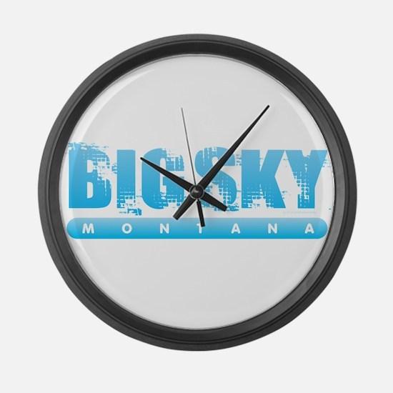 Montana - Big Sky Large Wall Clock