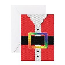 RAINBOW TEXTURE SANTA BUCKLE Greeting Card