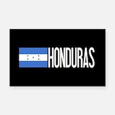 Honduras: Honduran Flag & Hon Rectangle Car Magnet