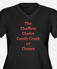 Cute Candy crush Women's Plus Size V-Neck Dark T-Shirt
