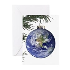 Planet Earth Ornament Greeting Cards (Pk of 20)