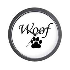 Woof Wall Clock