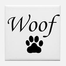 Woof Tile Coaster