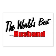 """""""The World's Best Husband"""" Postcards (Package of 8"""