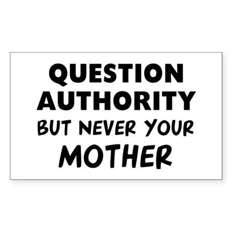 Question Mother Sticker (Rectangle)