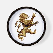 Renaissance Lion (gold) Wall Clock