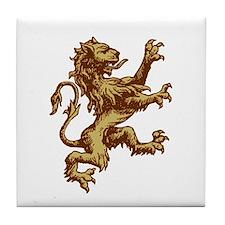 Renaissance Lion (gold) Tile Coaster