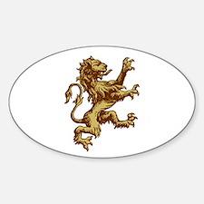 Renaissance Lion (gold) Oval Decal