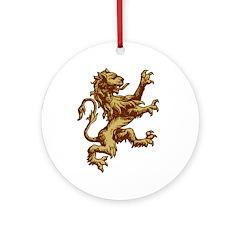 Renaissance Lion (gold) Ornament (Round)