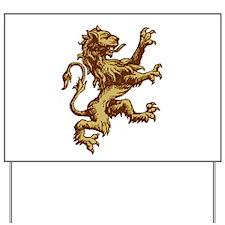 Renaissance Lion (gold) Yard Sign