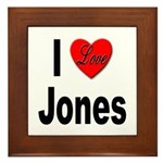 I Love Jones Framed Tile