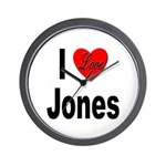I Love Jones Wall Clock