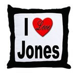 I Love Jones Throw Pillow