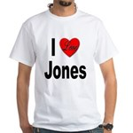 I Love Jones (Front) White T-Shirt
