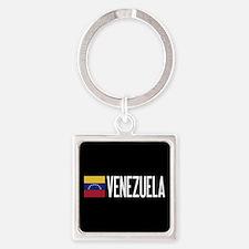Venezuela: Venezuelan Flag & Venez Square Keychain