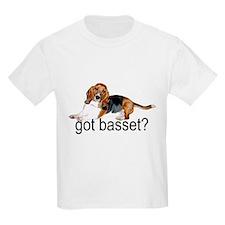 got basset? Tri-color Kids T-Shirt