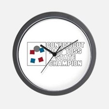 Connecticut Bag Toss State Ch Wall Clock