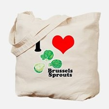 I Heart (Love) Brussels Sprouts Tote Bag