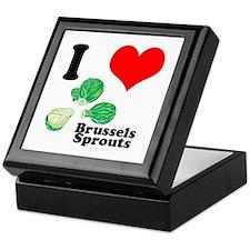I Heart (Love) Brussels Sprouts Keepsake Box