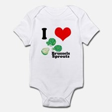 I Heart (Love) Brussels Sprouts Infant Bodysuit