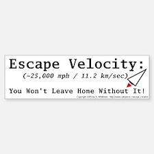 Escape Velocity Bumper Bumper Bumper Sticker