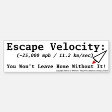 Escape Velocity Bumper Car Car Sticker