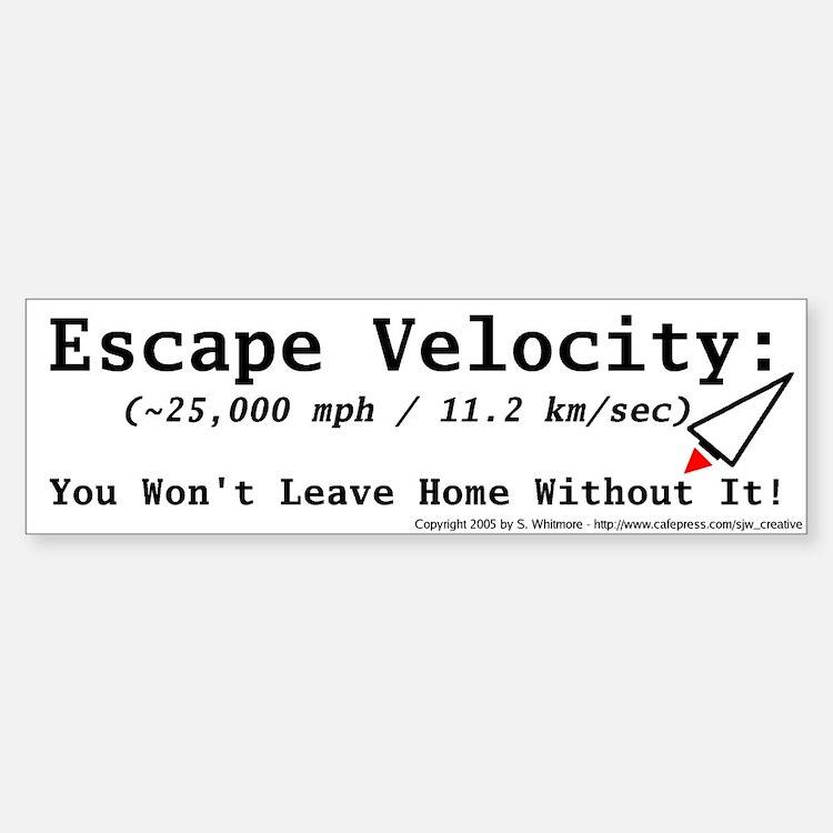 Escape Velocity Bumper Car Car Sticker