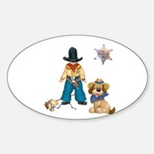 Sheriff and His Dog Oval Decal