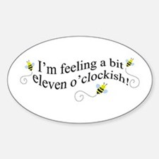 eleven o'clockish bee Oval Decal