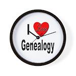 I Love Genealogy Wall Clock