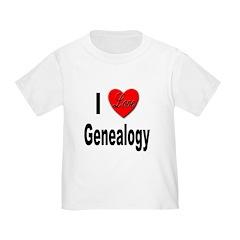 I Love Genealogy (Front) T