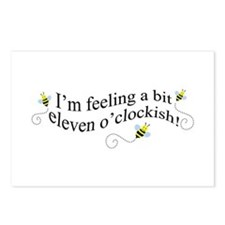 eleven o'clockish bee Postcards (Package of 8)