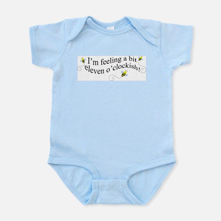 eleven o'clockish bee Infant Bodysuit