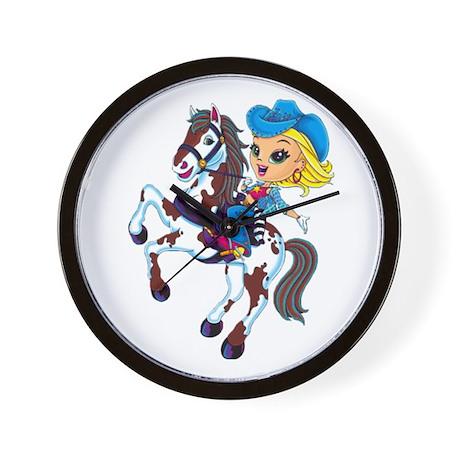 Cute Cowgirl Wall Clock