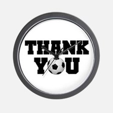 Soccer Thank You Wall Clock